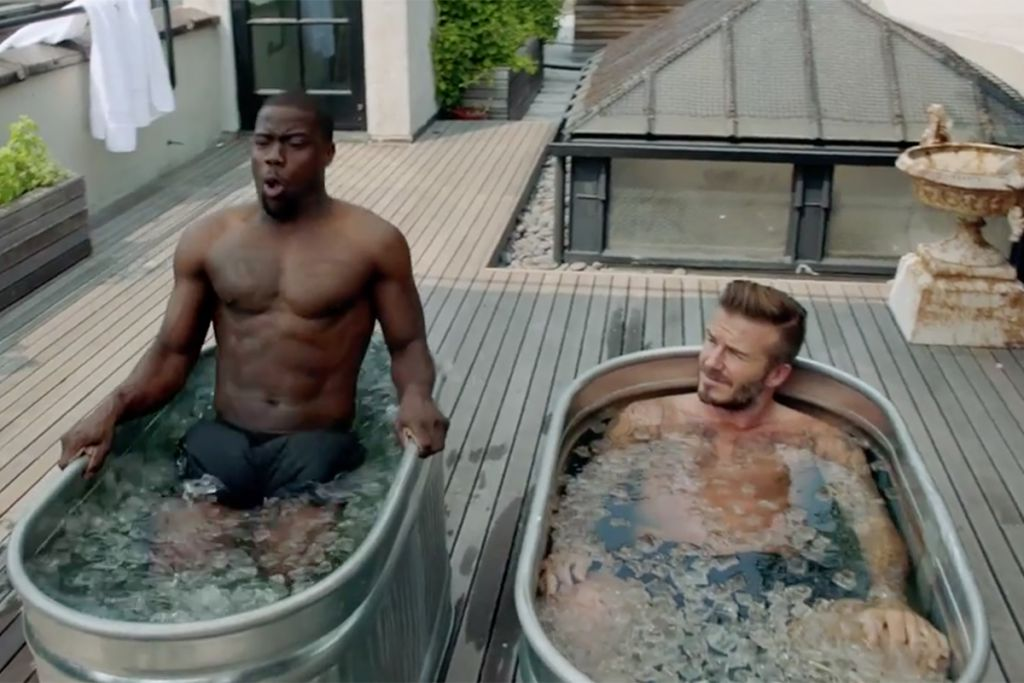 Kevin Hart and David Beckham in Advert