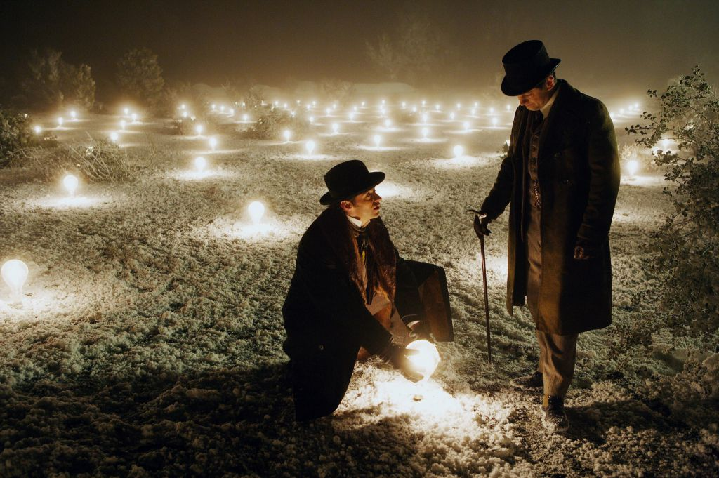 Hugh Jackman and Andy Serkis in The Prestige