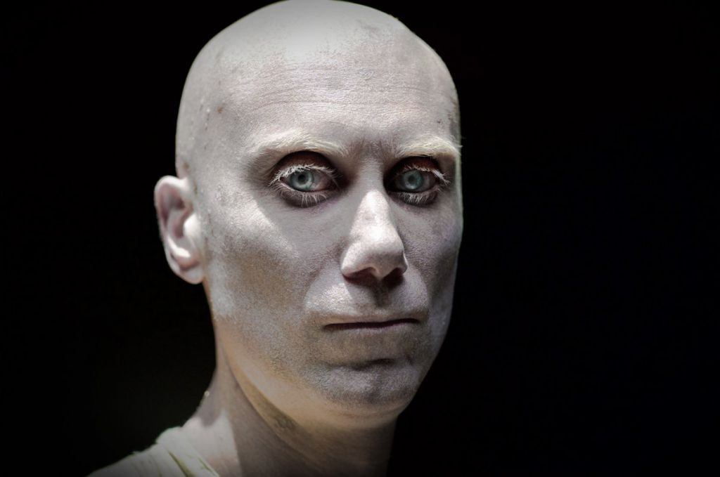 Stephen Merchant as Caliban in Logan