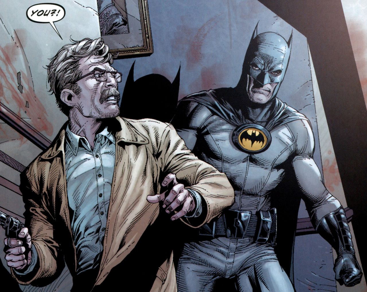 Commissioner Gordon and Batman