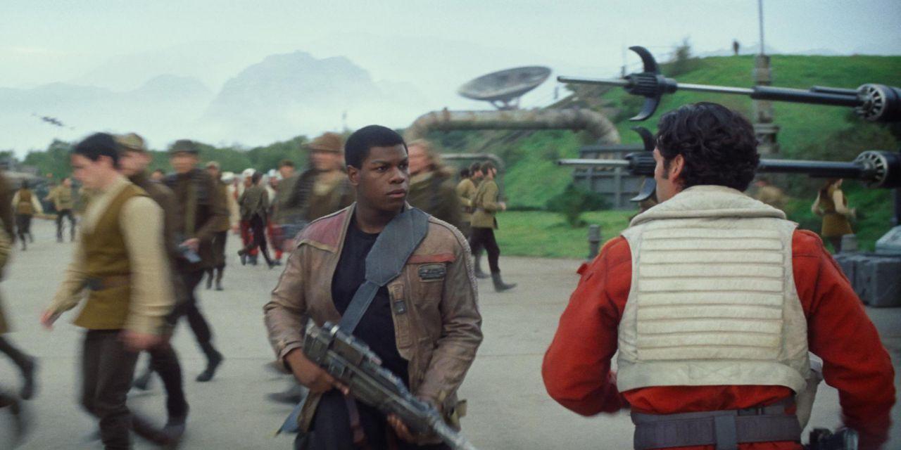 Finn and Poe in Force Awakens