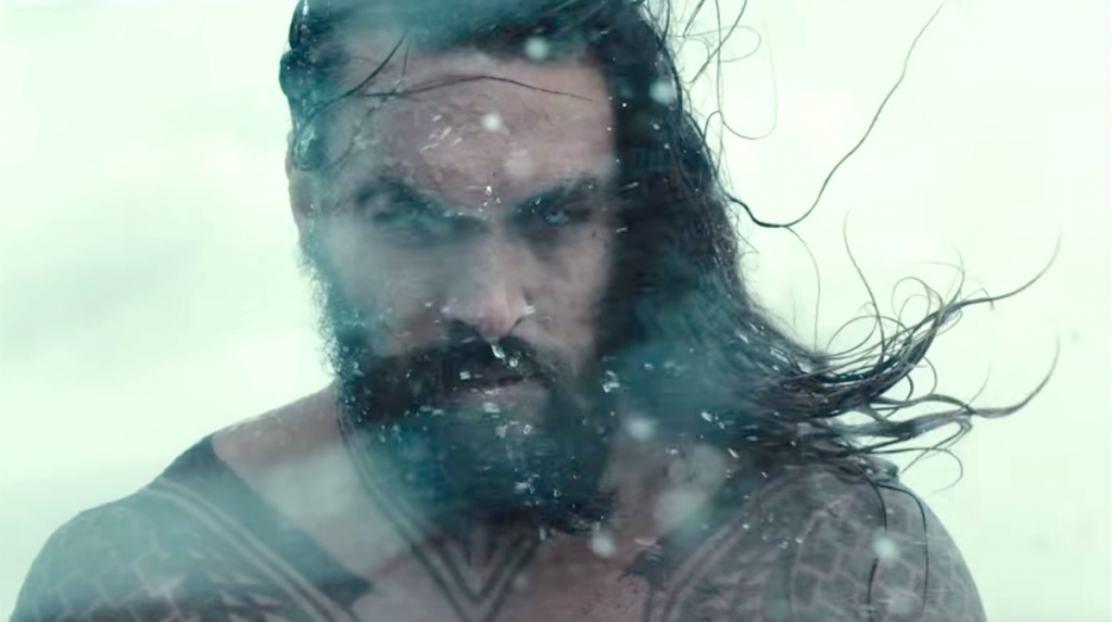 Jason Momoa's Aquaman in Justice League