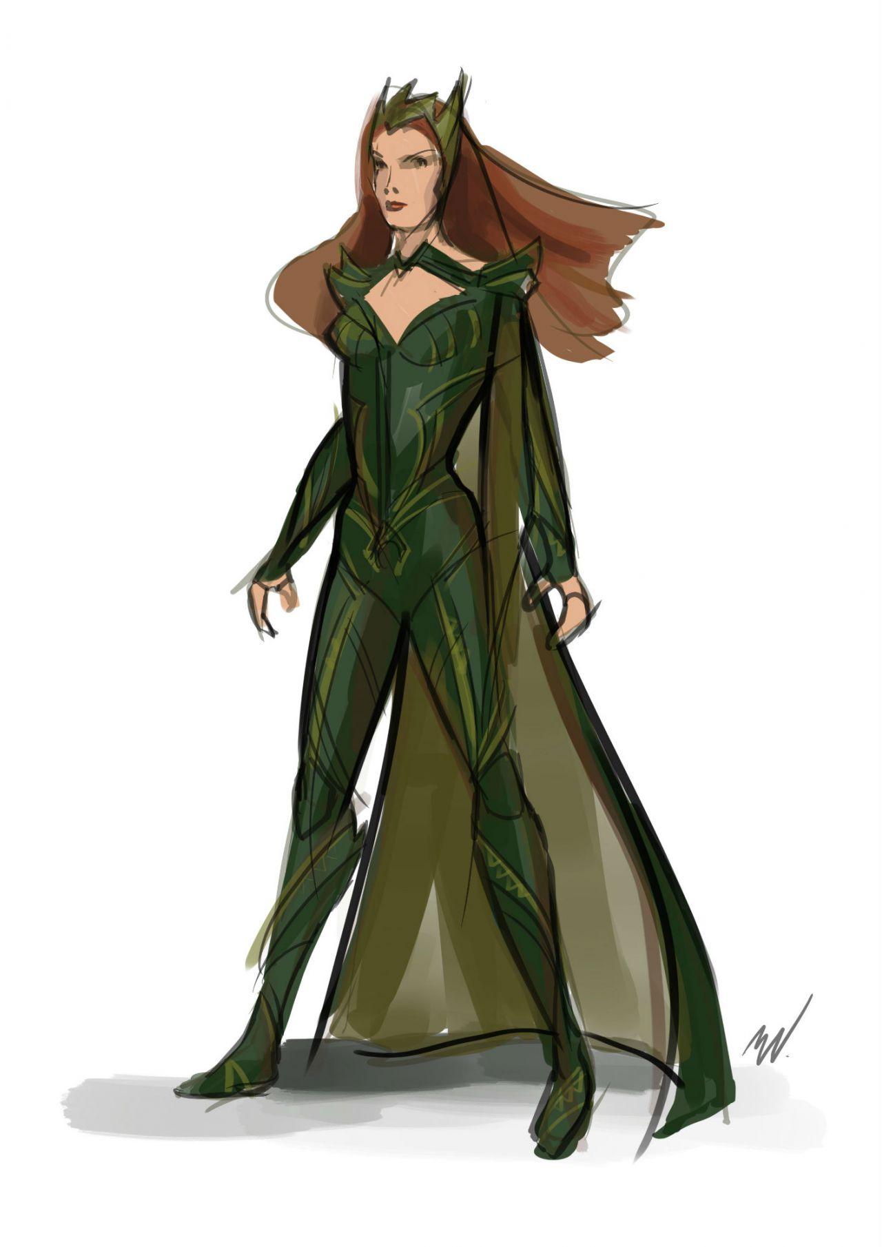 Sketch Art of Mera in Justice League