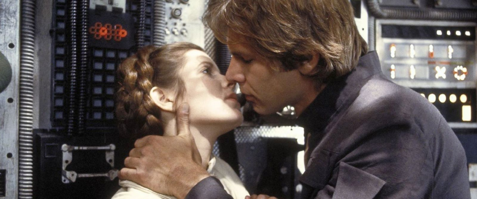 Carrie Fisher and Harrison Ford in Star Wars