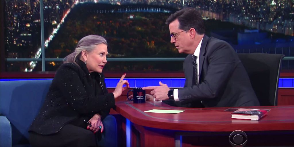 Carrie Fisher on Stephen Colbert