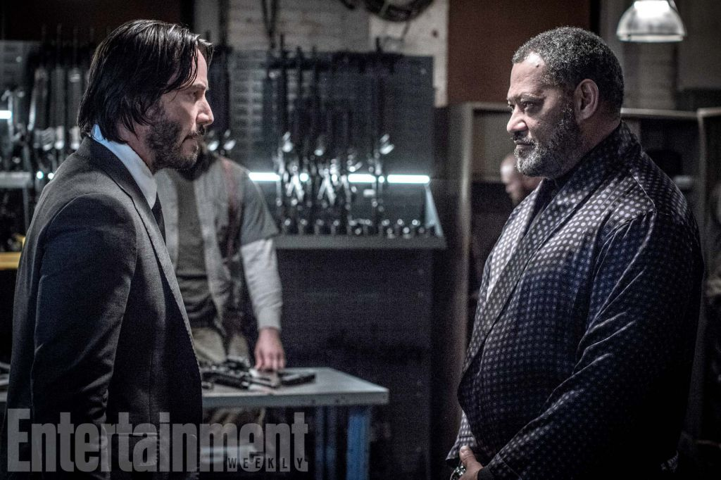 Keanu Reeves Lawrence Fishburne John Wick Chapter 2