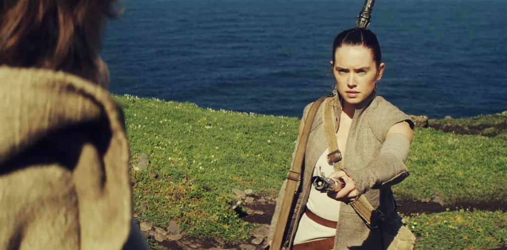 Rey in Star Wars The Force Awakens