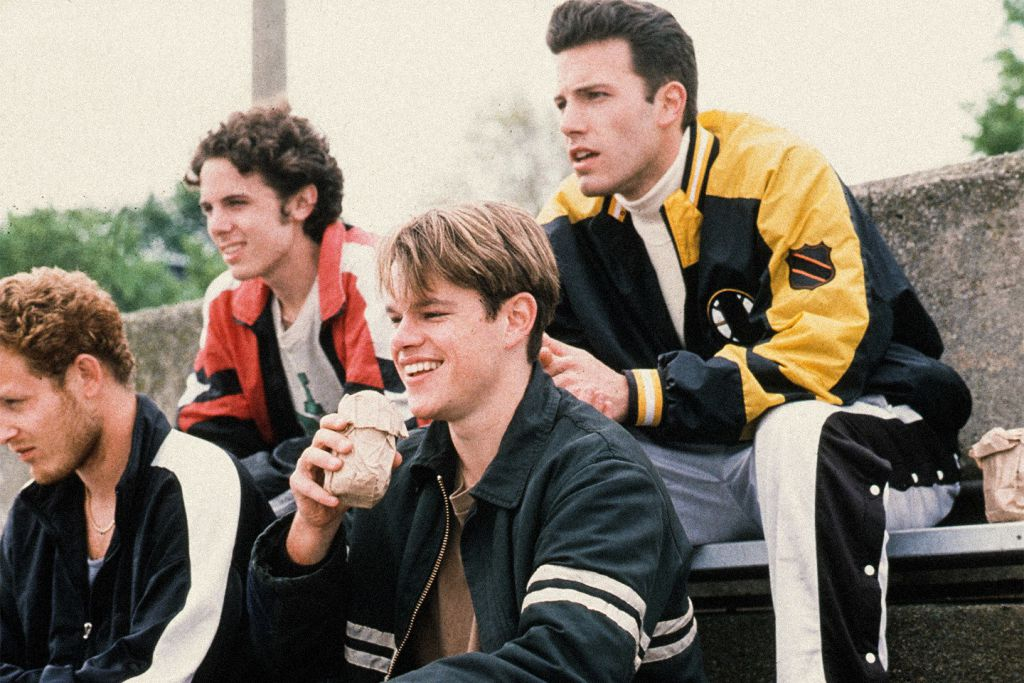Ben Affleck, Matt Damon and Casey Affleck in Good Will Hunting