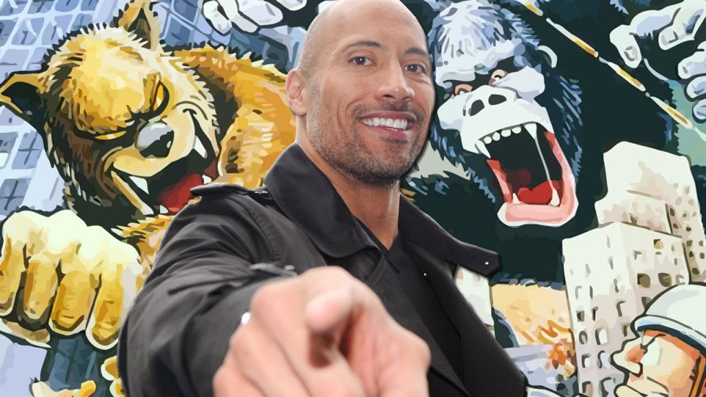 Dwayne Johnson Cast for Rampage