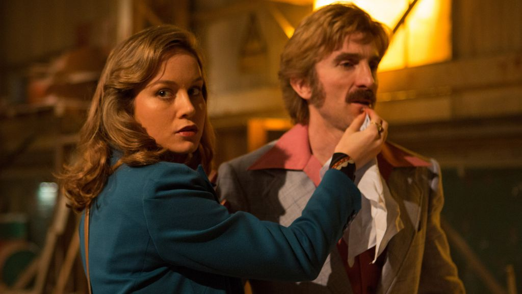 Sharlto Copley and Brie Larson in Free Fire