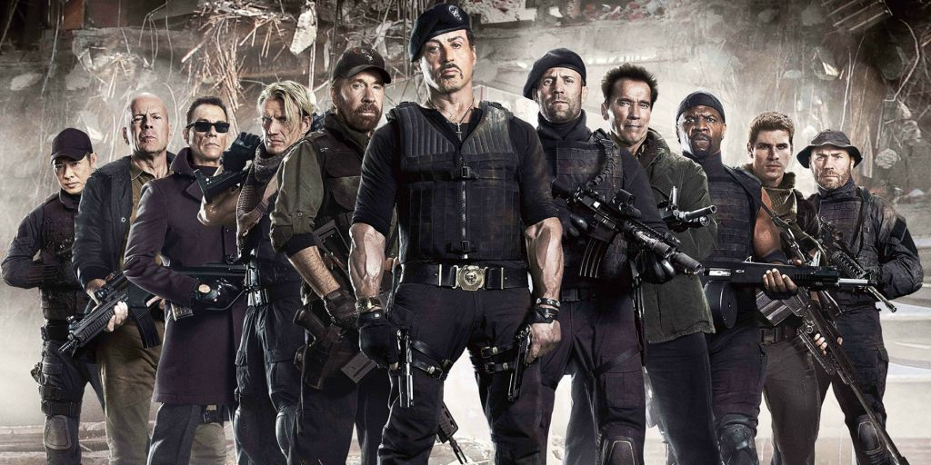 Sylvester Stallone Jason Statham in Expendables