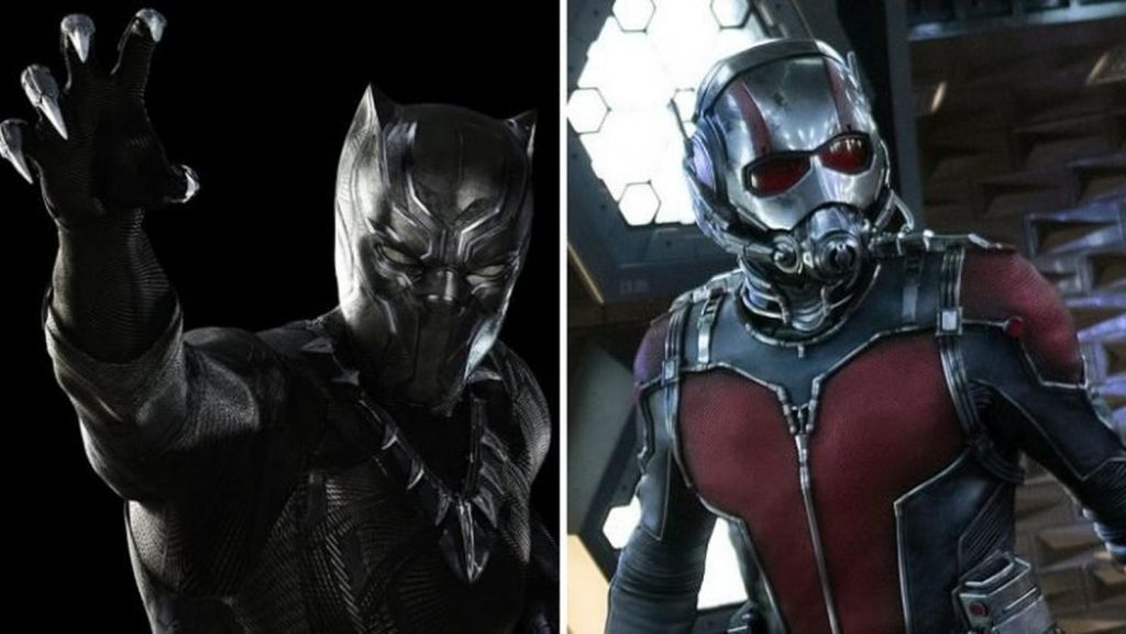 Ant-Man and Black Panther in Marvel