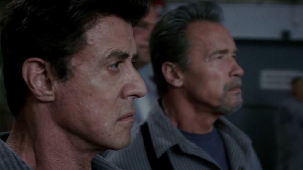 Sylvester Stallone and Arnold Schwarzenegger in Escape Plan