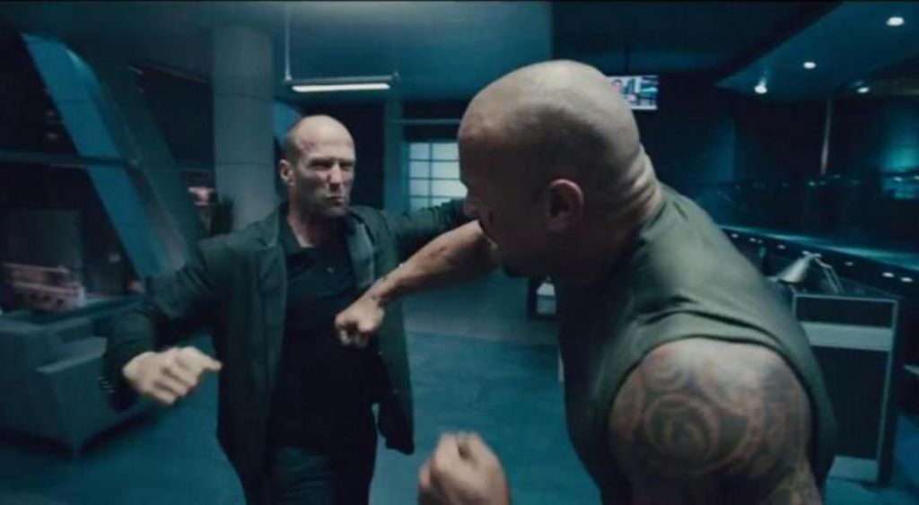 The Rock and Jason Statham in the Fast and Furious