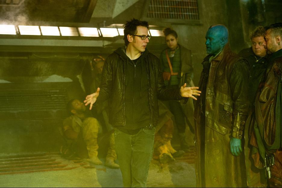 James Gunn on the Set of Guardians of the Galaxy