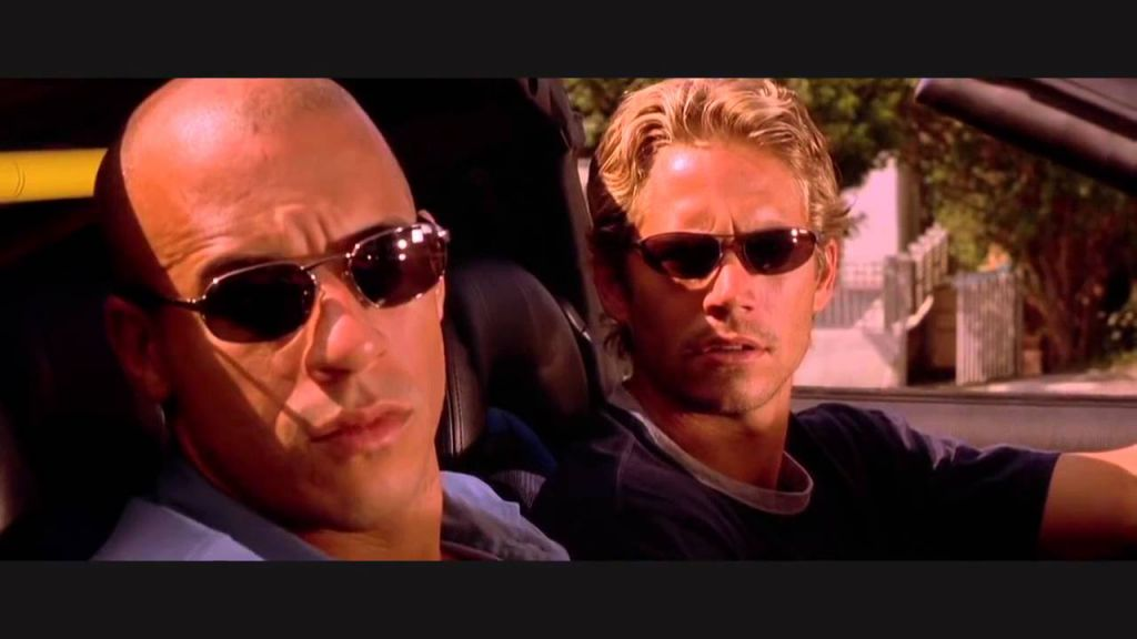 Paul Walker and Vin Diesel in Fast and the Furious