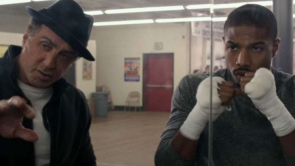 Sylvester Stallone and Michael B Jordon in Creed