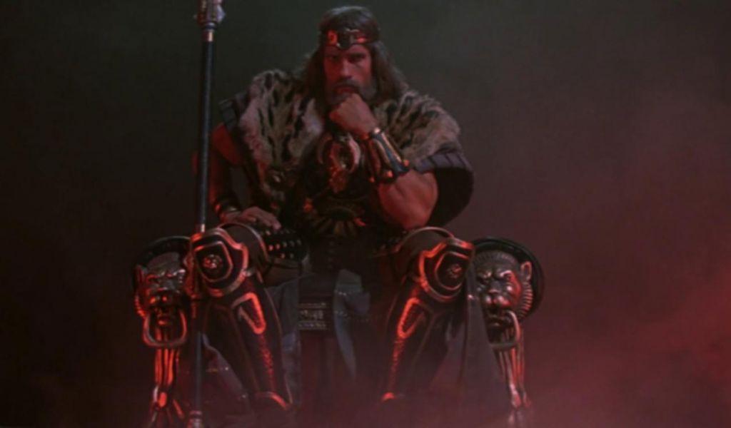 Arnold Schwarzenegger as King Conan