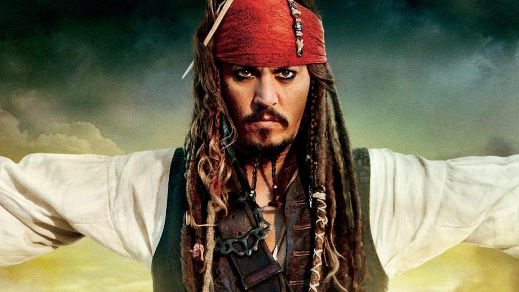 Johnny Depp in the Pirates of the Caribbean Poster