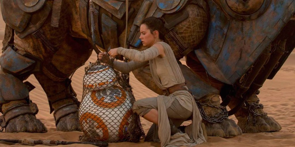 Daisy Ridley in Star Wars The Force Awakens