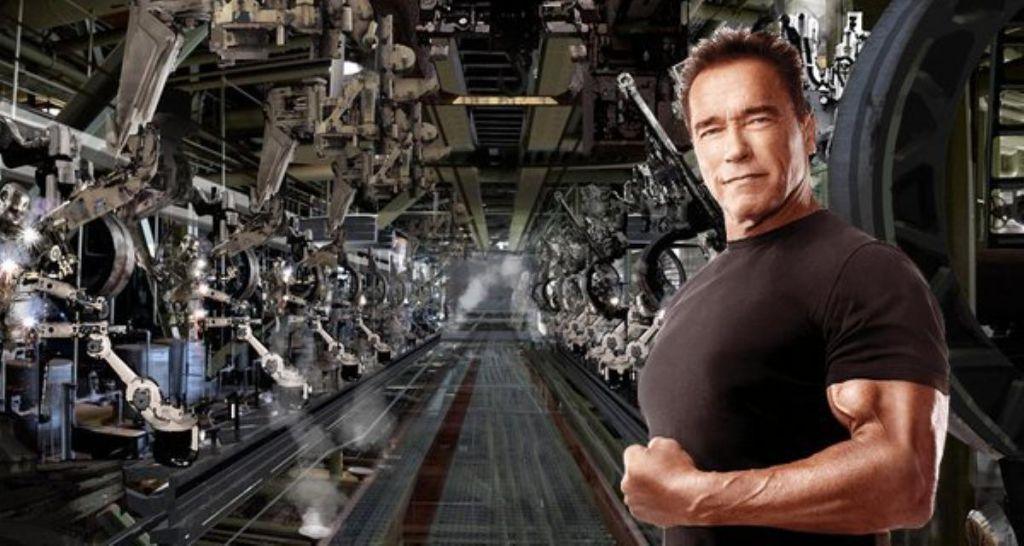 Arnold Schwarzenegger Human Progenitor in The Terminator