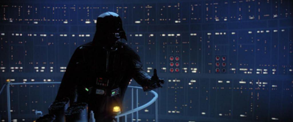 Darth Vader in Empire Strikes Back