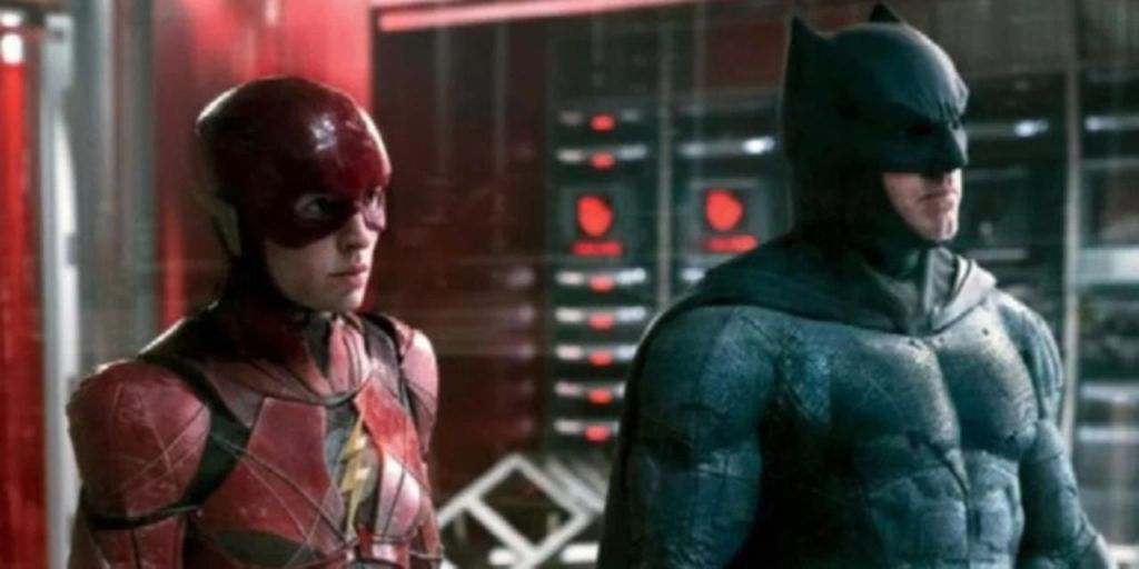 Batman Flash in Justice League DCEU