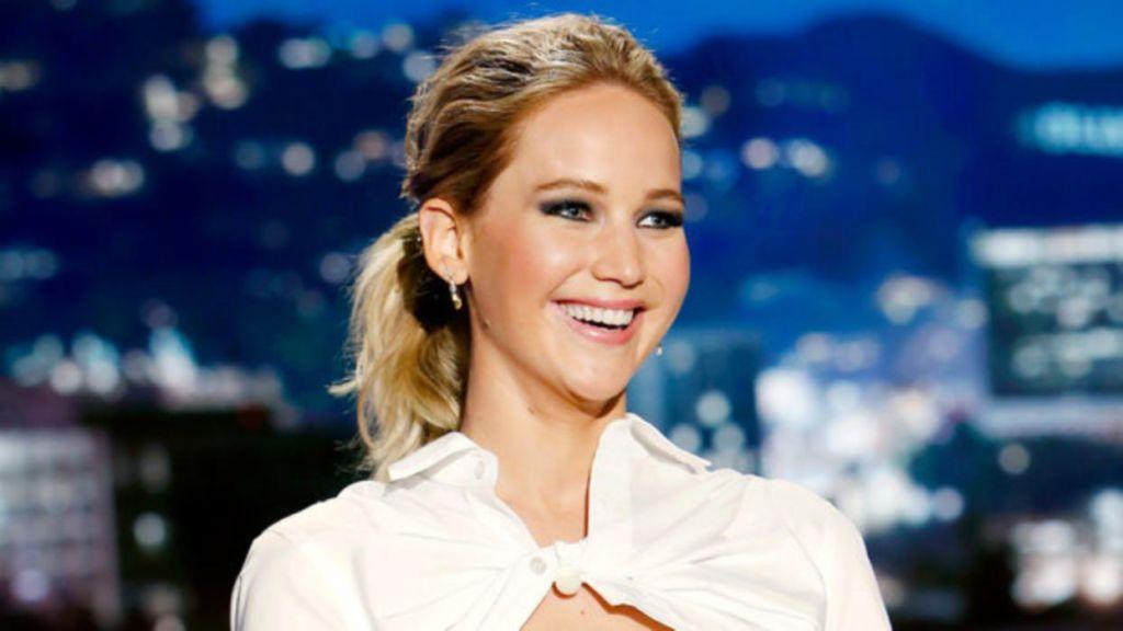 Jennifer Lawrence with Kimmel