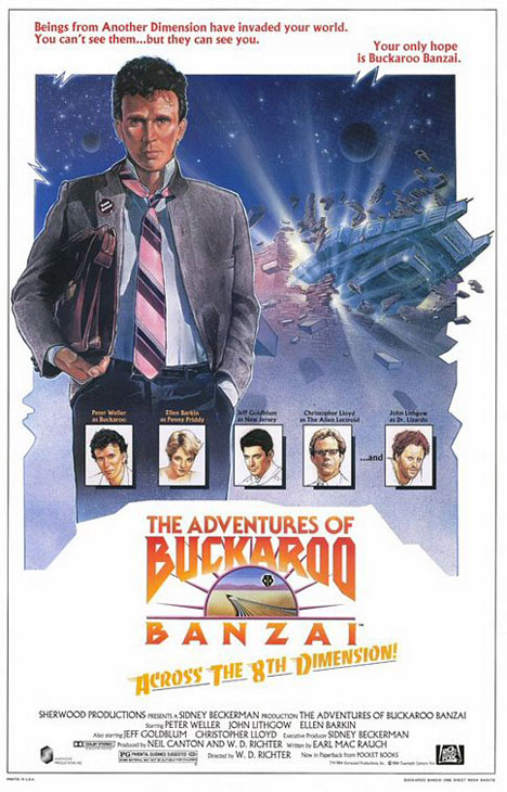 The Adventures of Buckaroo Banzai Across the 8th Dimension Poster
