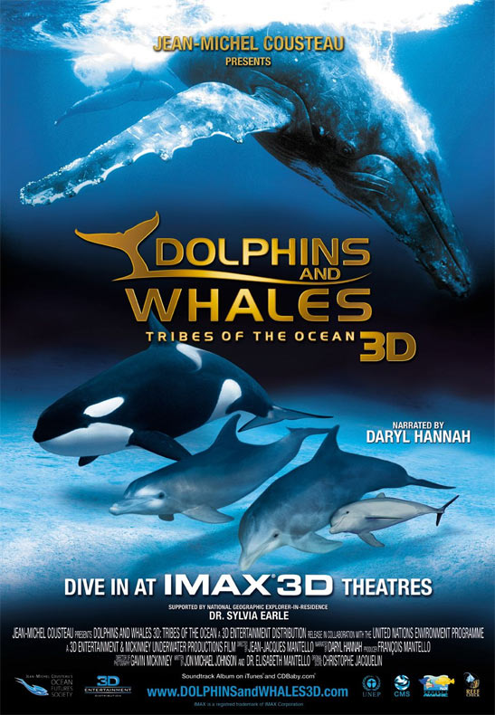 Dolphins and Whales 3D: Tribes of the Ocean Poster