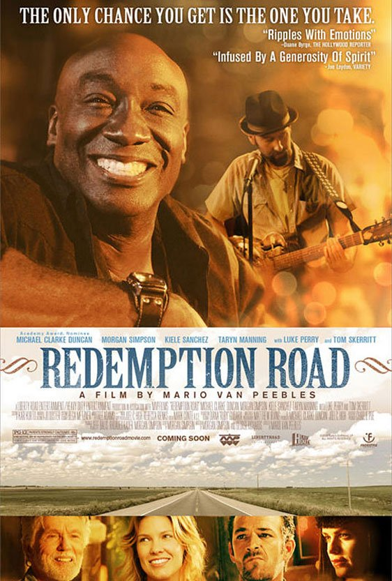 Redemption Road (Black, White and Blues) Poster
