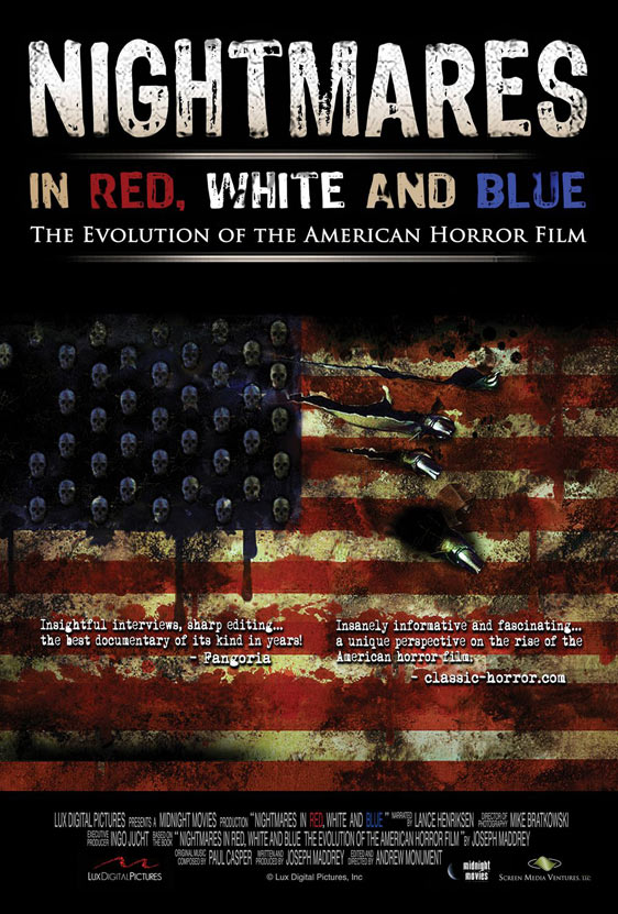 Nightmares in Red, White and Blue Poster