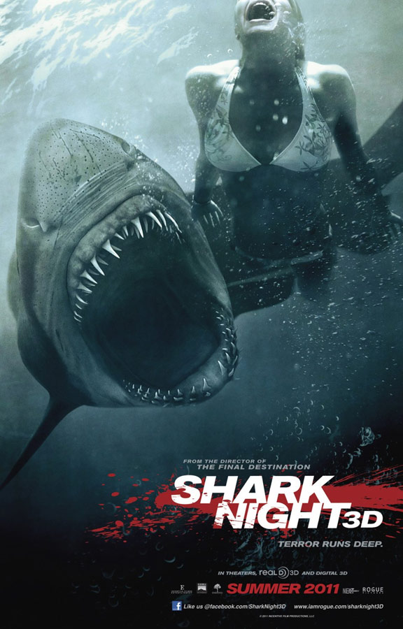 Shark Night 3D Poster