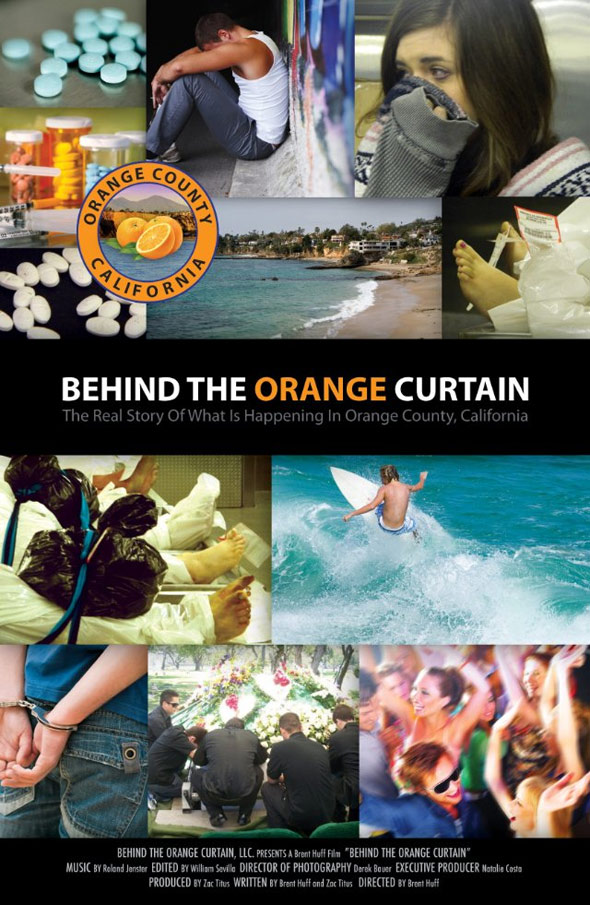 Behind the Orange Curtain Poster