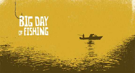 Big Day of Fishing Poster