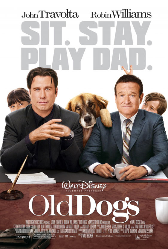 FilmHype.Net ripped on the Old Dogs trailer, leaving it to us to rip on this awful, painfully Photoshopped poster.