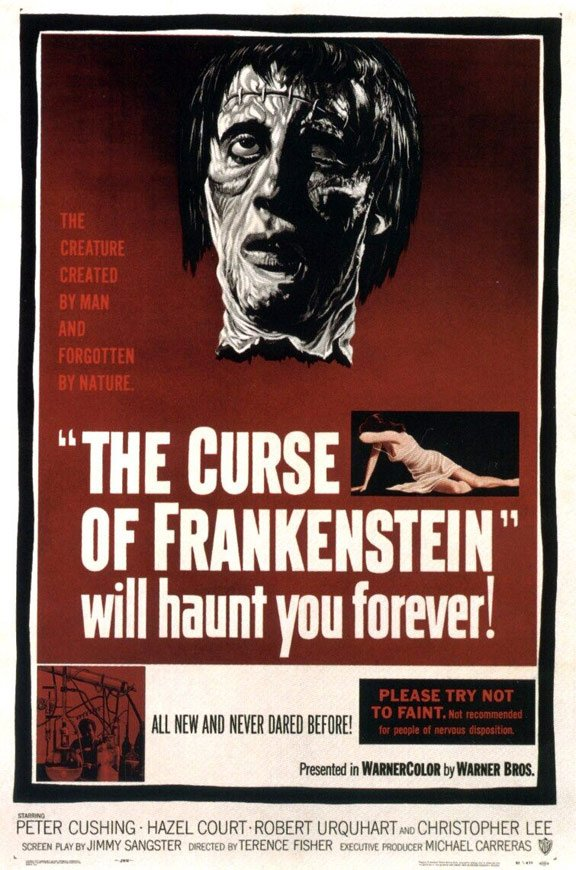 The Curse of Frankenstein Poster